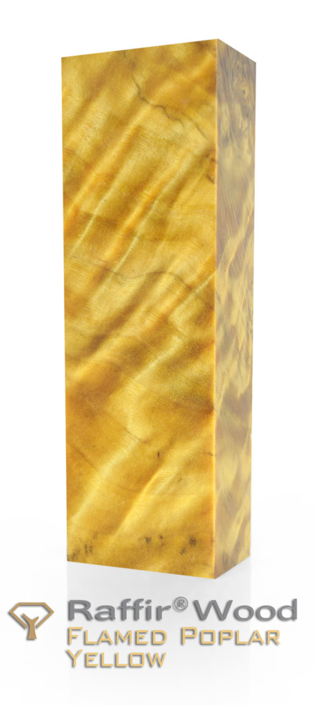Raffir Stabilized Wood - Flamed Poplar - Yellow