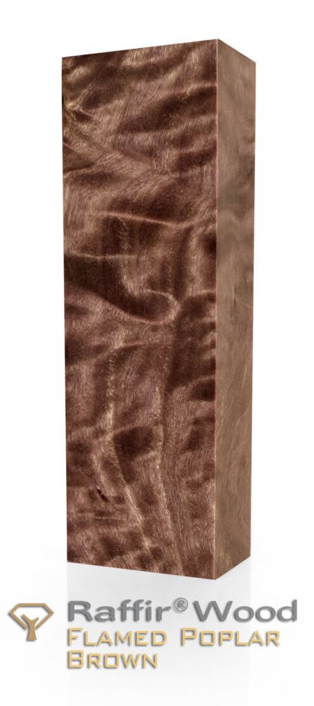 Raffir Stabilized Wood - Flamed Poplar - Brown